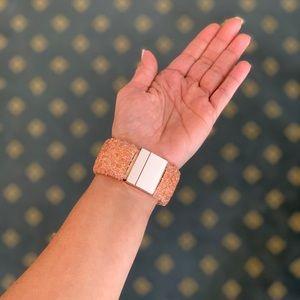 AngelBellas Jewelry - Coral color Rhinestone Cluster Magnetic Bracelet